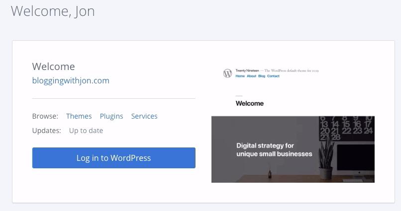 Bluehost Portal