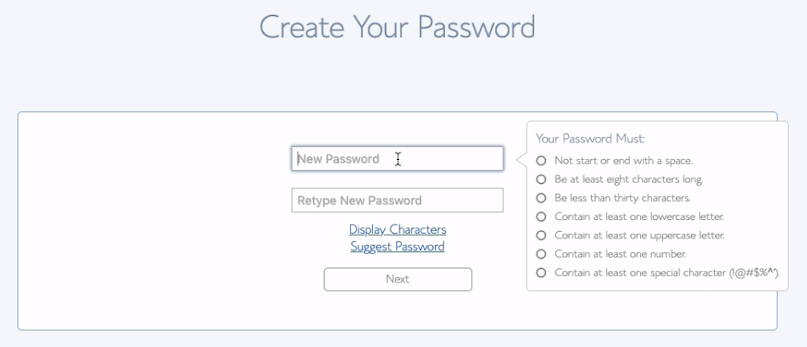 Bluehost Set Password